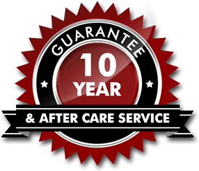 10 Year Guarantee and after care service