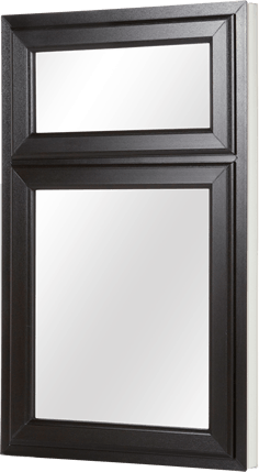 Black frame casement window