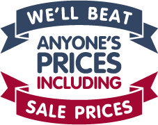 We'll beat anyone's prices including sale prices