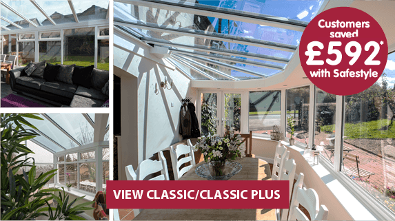 Classic and classic plus conservatory range, find out more. Customers saved £892* with Safestyle