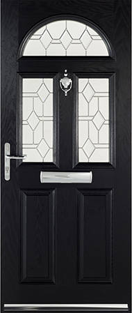 Black Cheltenham door
