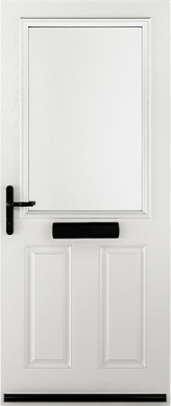 White Exeter door