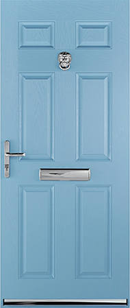 Duck egg blue Warwick door