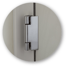 Composite door hinge