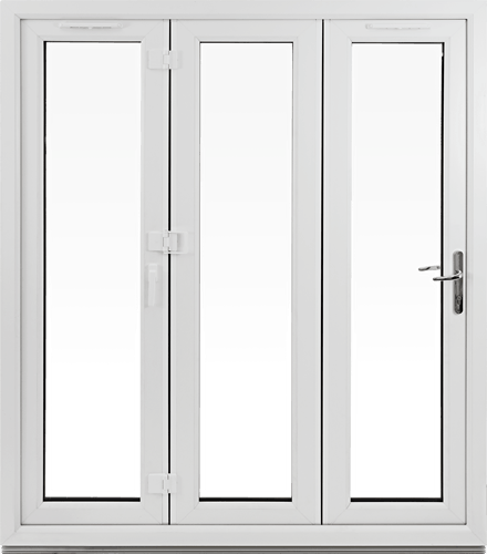 Bifold doors closed position