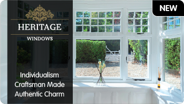 New. Heritage windows. Individualism, Craftsman Made, Authentic Charm