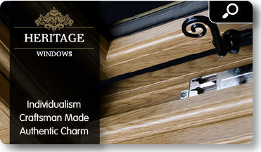 Heritage page link. Heritage windows, individualism, craftsman made, authentic charm