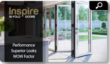 Inspire page link. Inspire bifolding doors, performance, superior looks, wow factor