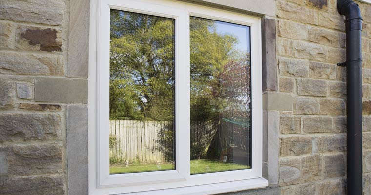 Cream uPVC windows