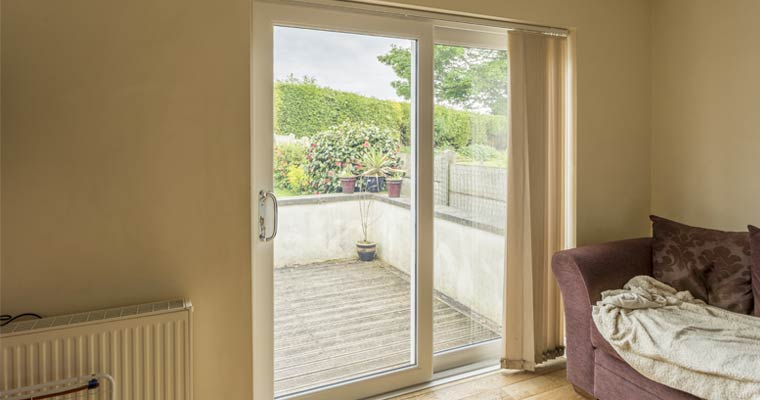 Large cream patio door