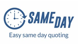 Same day easy quoting