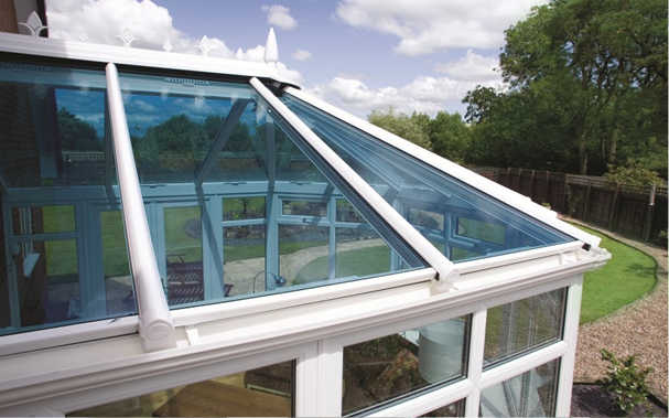 Tinted glass conservatory roof