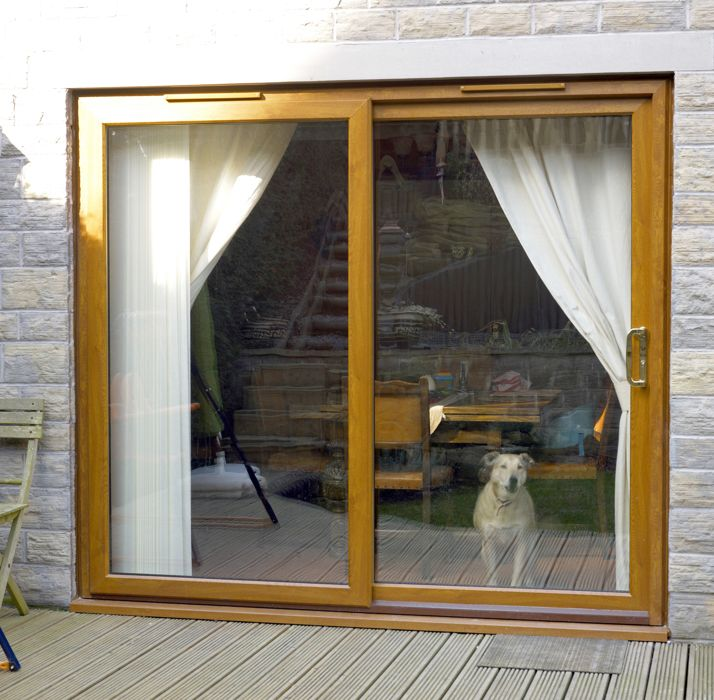 Upvc double glazed sliding patio doors safestyle uk for Double glazed sliding patio doors