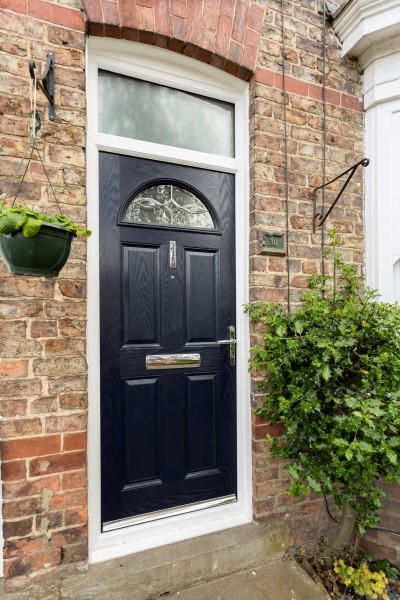 Blue composite with toplight & Composite Double Glazed Front Doors | Safestyle UK Pezcame.Com