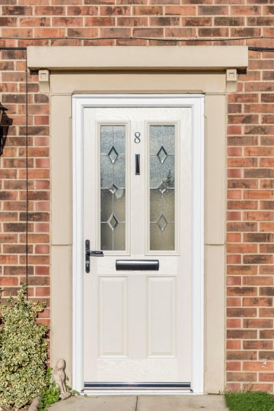 Cream Windsor Composite & Composite Double Glazed Front Doors | Safestyle UK