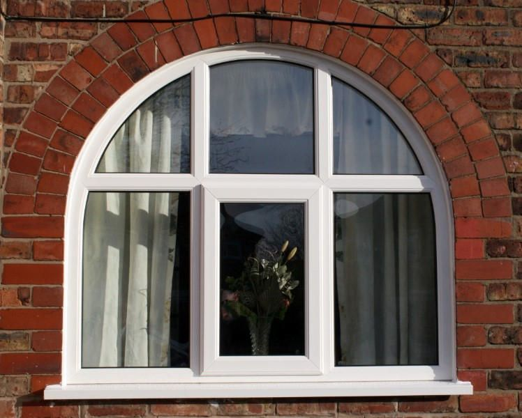 Arched upvc double glazing windows safestyle uk for Curved windows