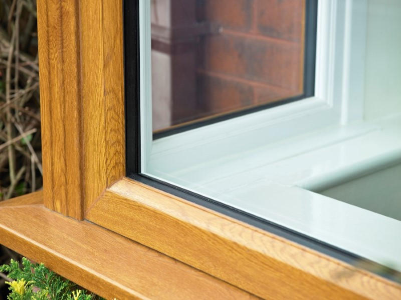 Oak bay window sill