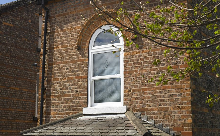 Arched upvc double glazing windows safestyle uk for Arch window replacement