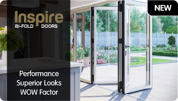 Inspire Bi Fold doors. Performance Superior Looks WOW Factor