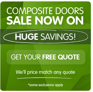 Sale now on. Up to 50% off composite doors. Some exclusions apply