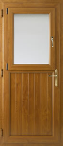 Oak half glazed door