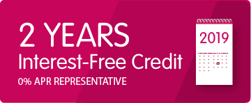 2 Years Interest Free Credit 0% APR Representative