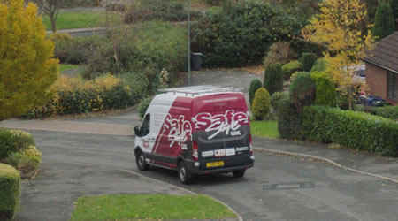 Safestyle van on UK street