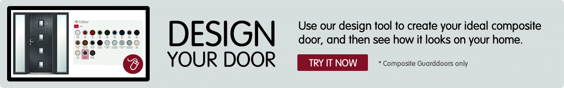 Design your door. Use our design tool to create your ideal composite door, and then see how it looks on your home. *Composite doors only. Try it now.