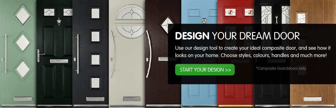 Use our design tool to create your ideal composite door, and see how it looks on your home. Choose styles, colours, handles and much more! Start your design >> *Composite guard doors only