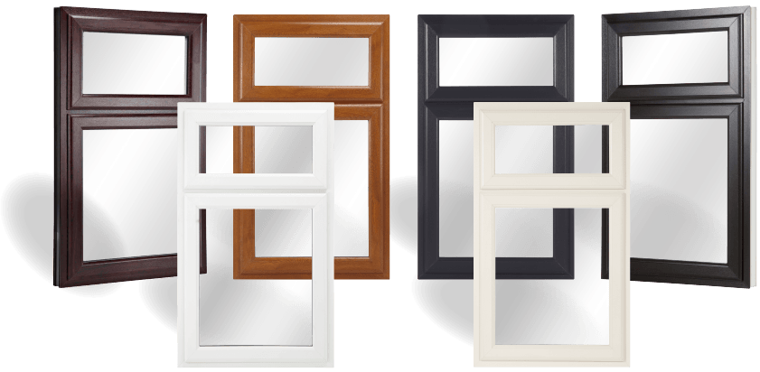 Rosewood, white, oak, cream, grey and black frames